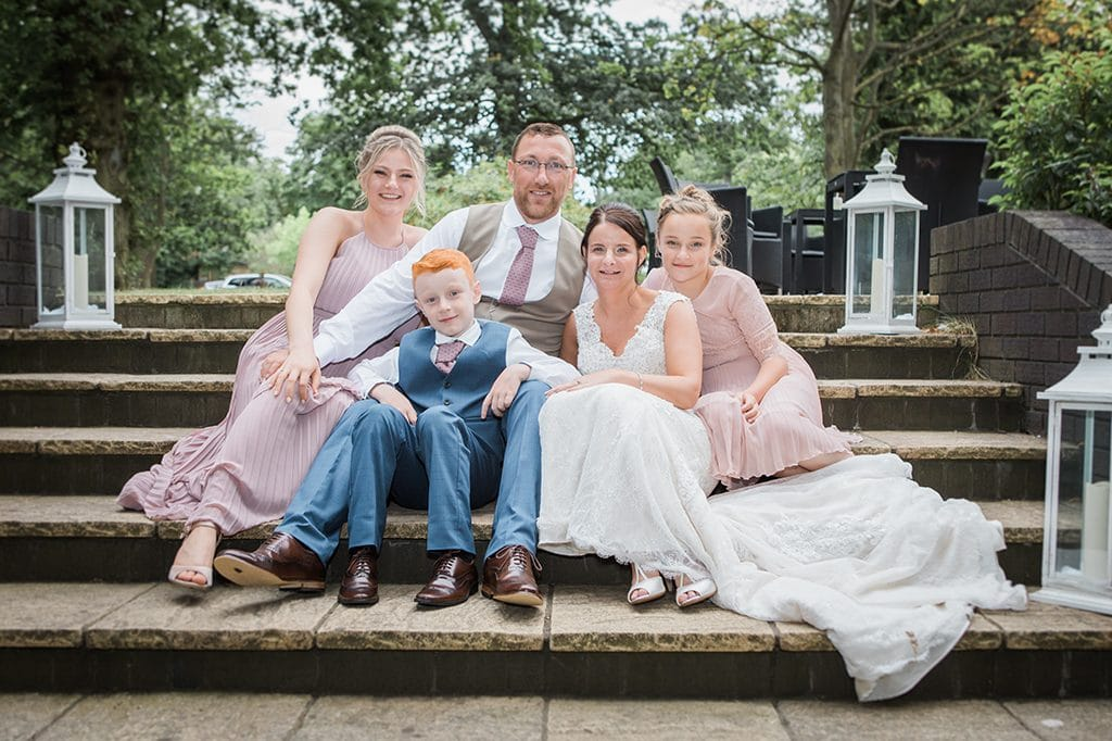 Family photo on the Terrace Grand Hotel Gosforth Park Newcastle