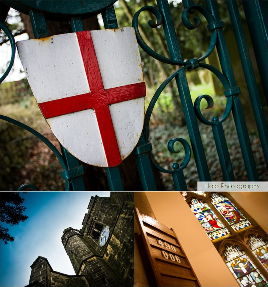 Montage of St. Andrews Church in Lamesley, Lowfell.