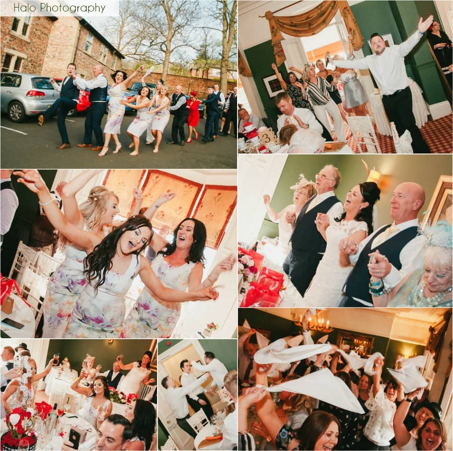 Montage of Guests singing & dancing to the Singing Waiters at Eslington Villa