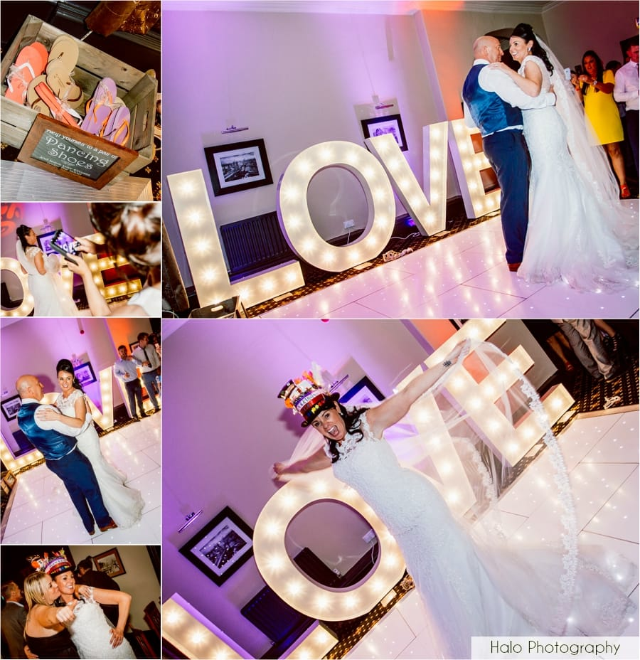 Montage of Images from the first dance