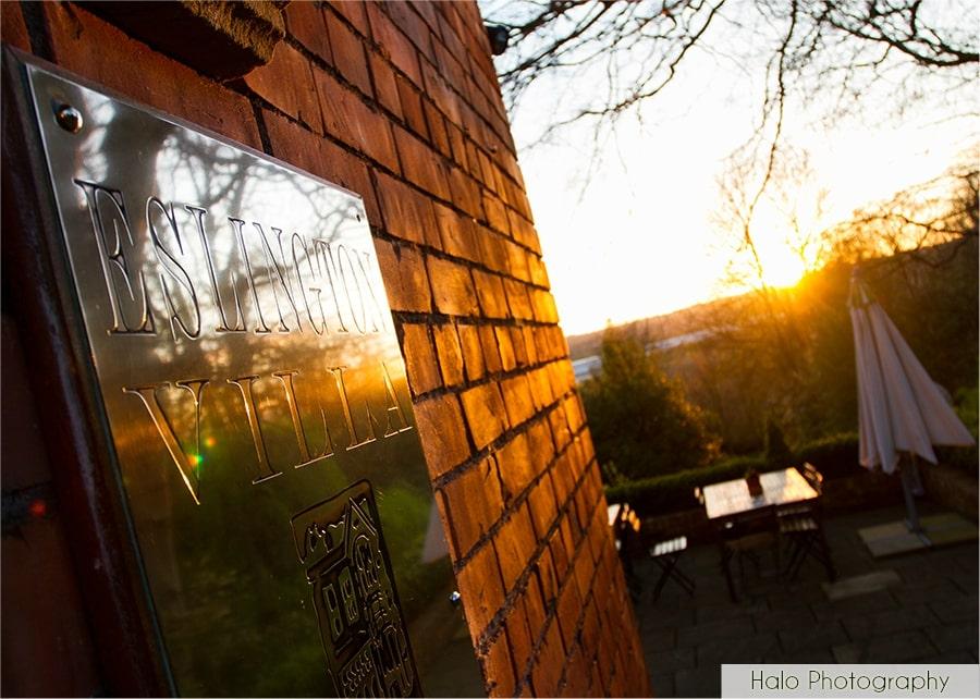 Sunset at Eslington Villa