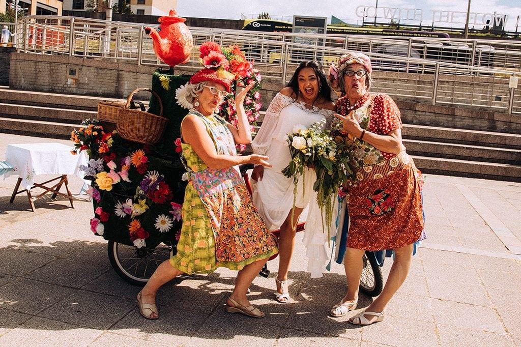 The Tea Ladies in Baltic Square