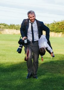 Mark from Halo Photography retrieving a lost toddler