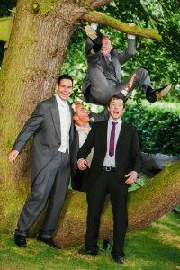 Wedding Tips, Groom and his Ushers monkeying around