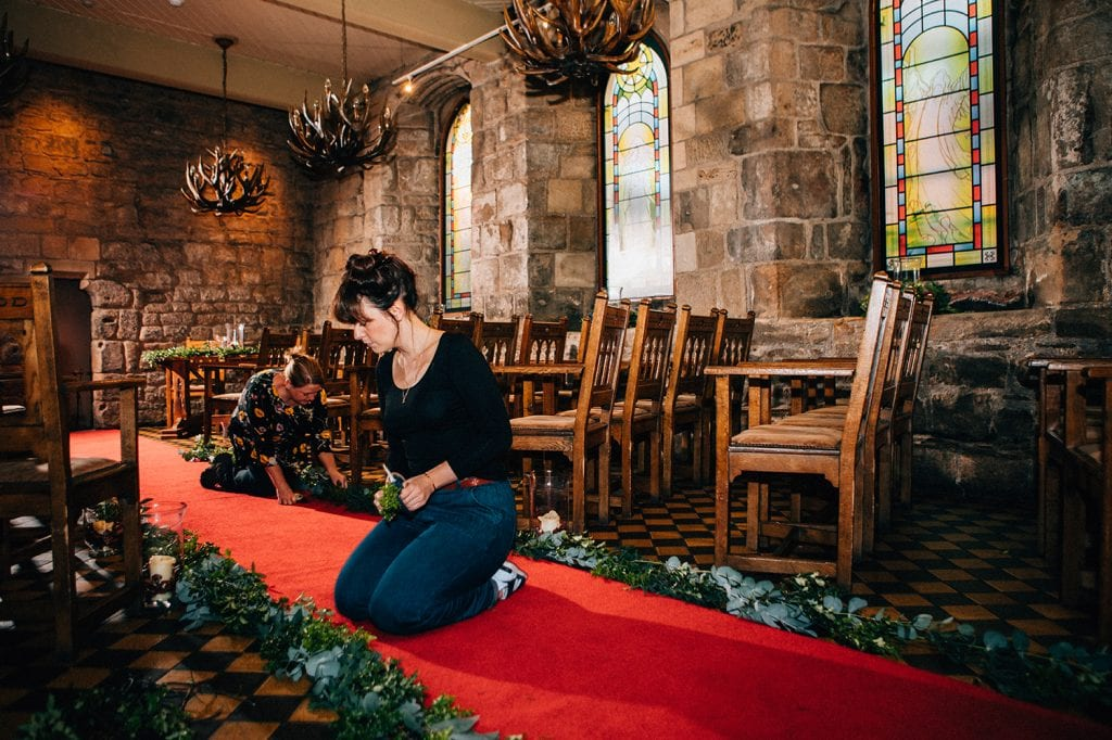 The finishing touches to Blackfriars' ornate medieval Banquet Hall