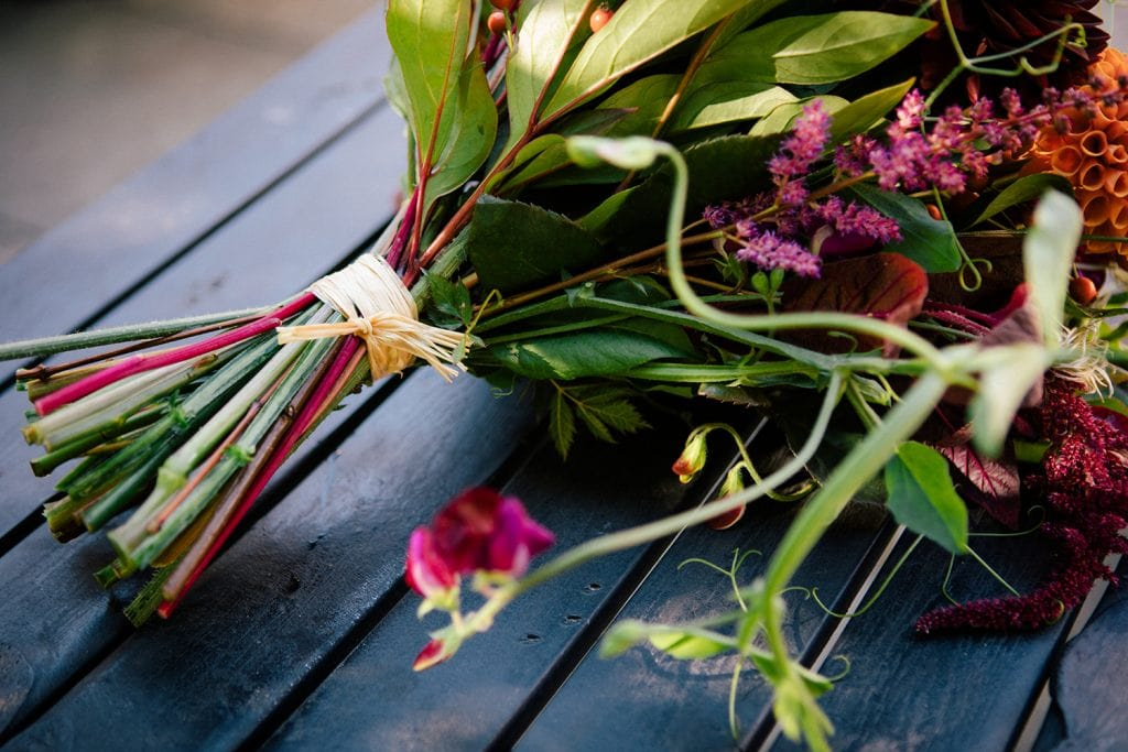 Close up of a Northumbrian Flowers Bouquet