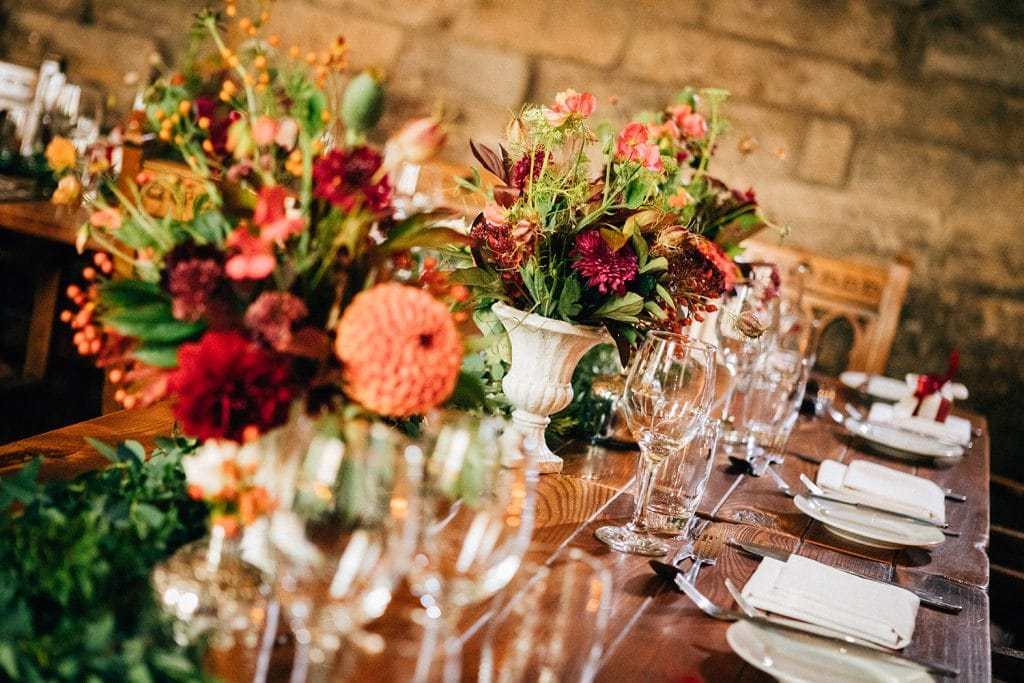 Table Flowers from Northumbrian Flowers