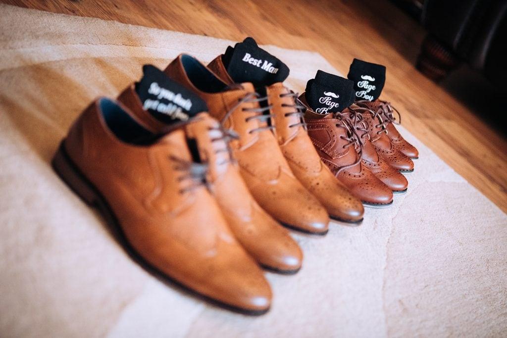 Groomsmens shoes & Personalised socks