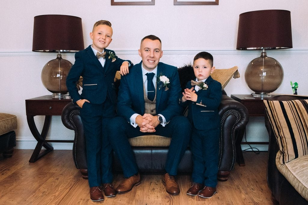 Groom with Pageboys