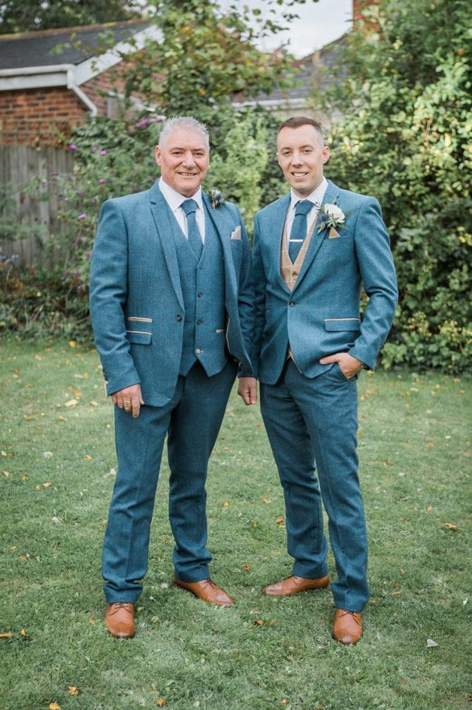 Groom and his Father at St Chad's Church in Sunderland