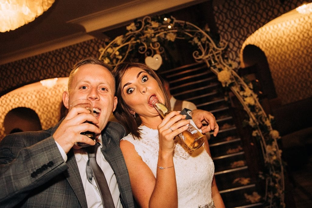 Funny faces from the bride & guest at The Roker Hotel in Sunderland