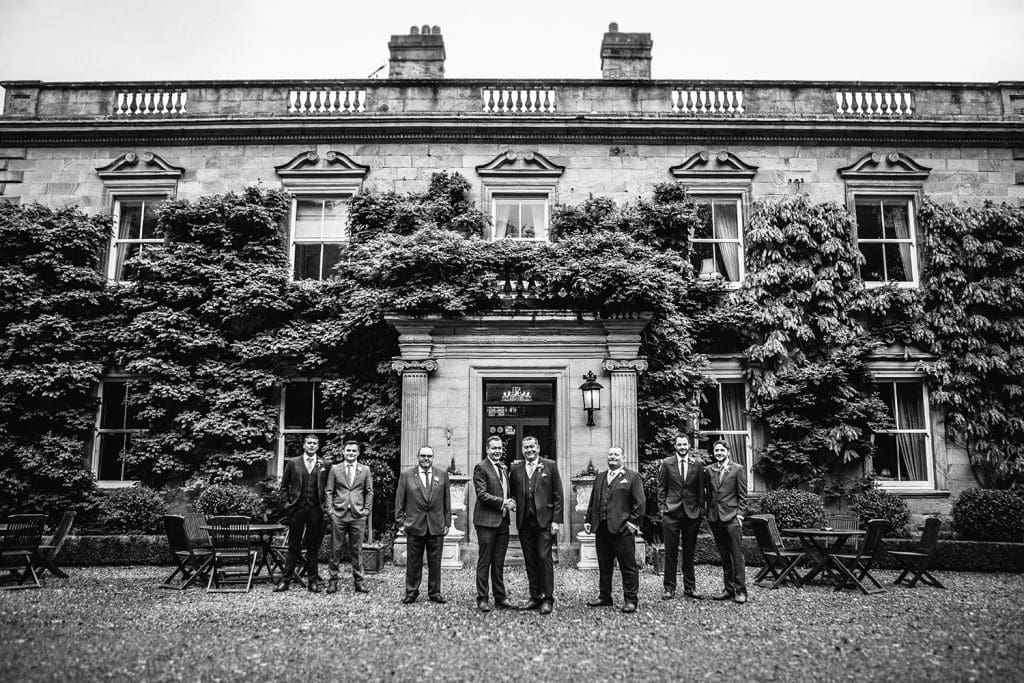 The Lads outside of Eshott Hall in Northumberland