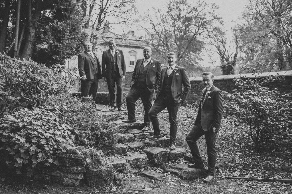 Grooms Men in the Grounds of Eshott Hall in Northumberland