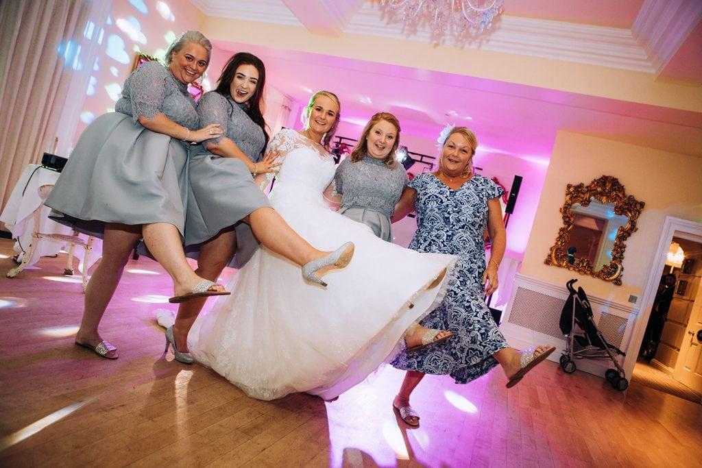 Girls on the dance floor of Eshott Hall, Northumberland