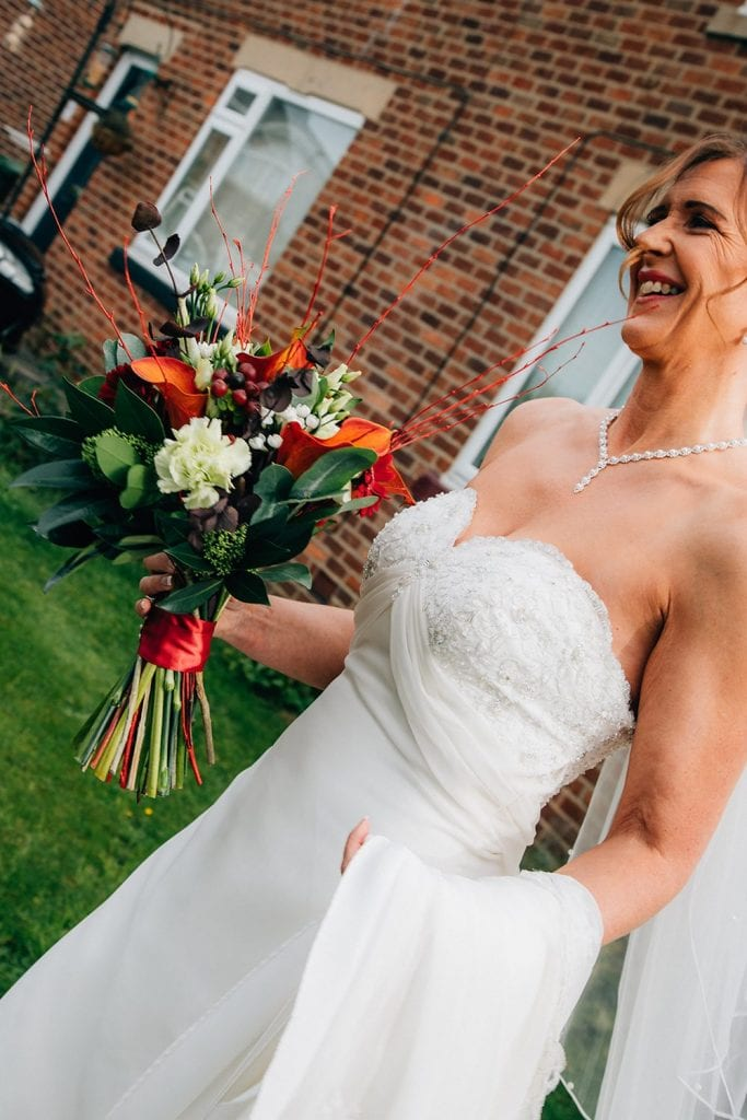 Bride leaving her Home