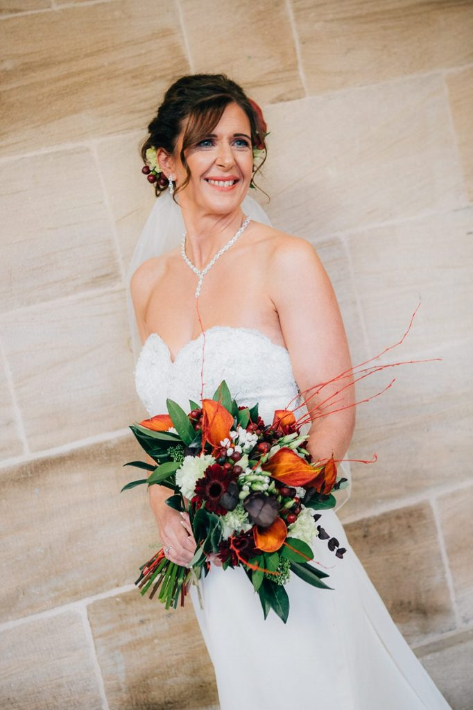 Brides portrait at Morpeth Town Hall