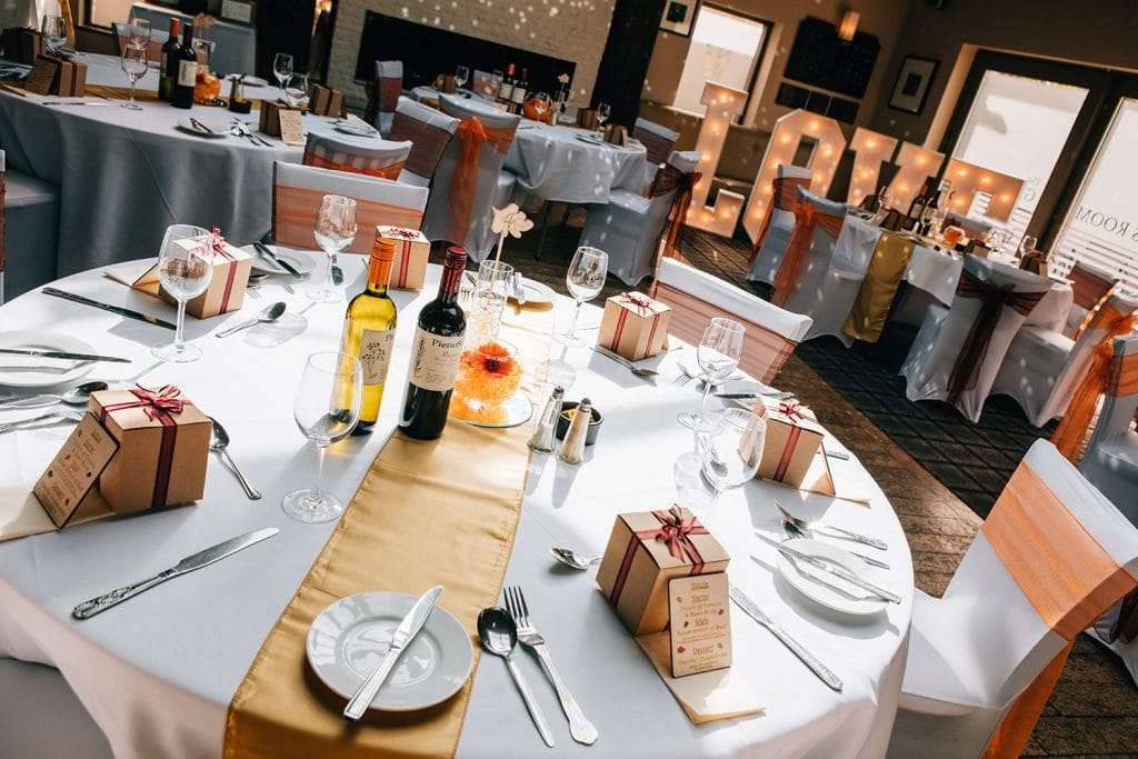 The function room at The Waterford Lodge Hotel in Morpeth