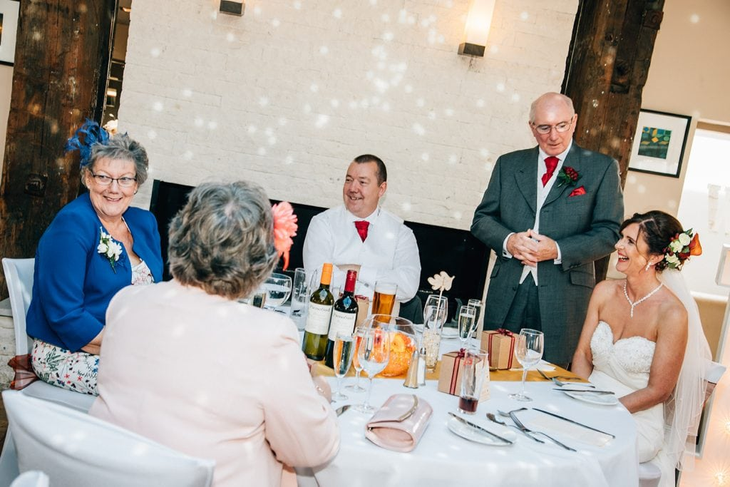 Father of the brides speech at The Waterford Lodge Hotel in Morpeth