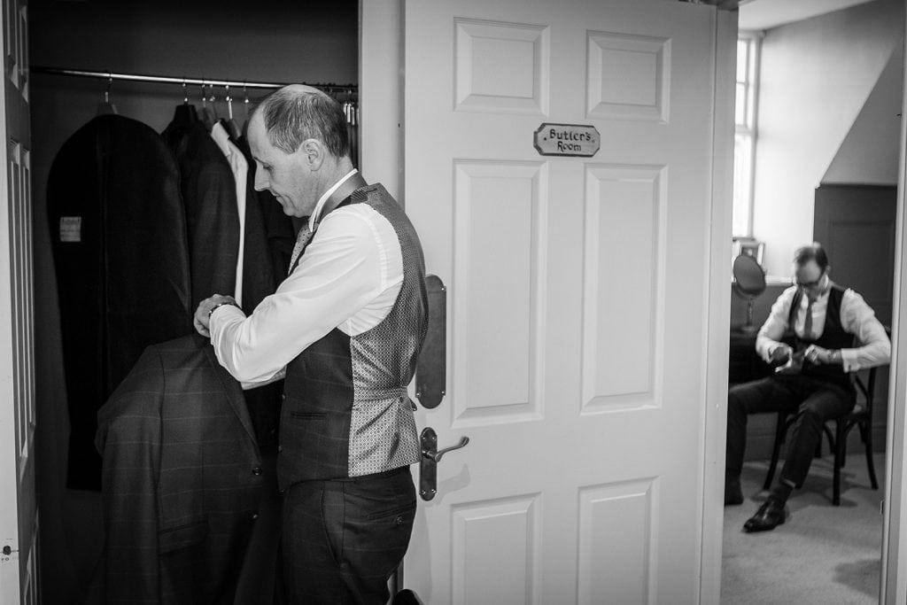 Groom & Best man getting ready
