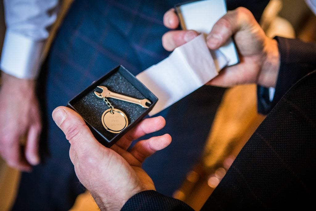 A gift from the bride to the groom