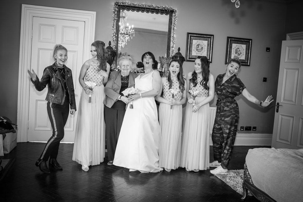 Brides prep team at Ellingham Hall in Northumberland