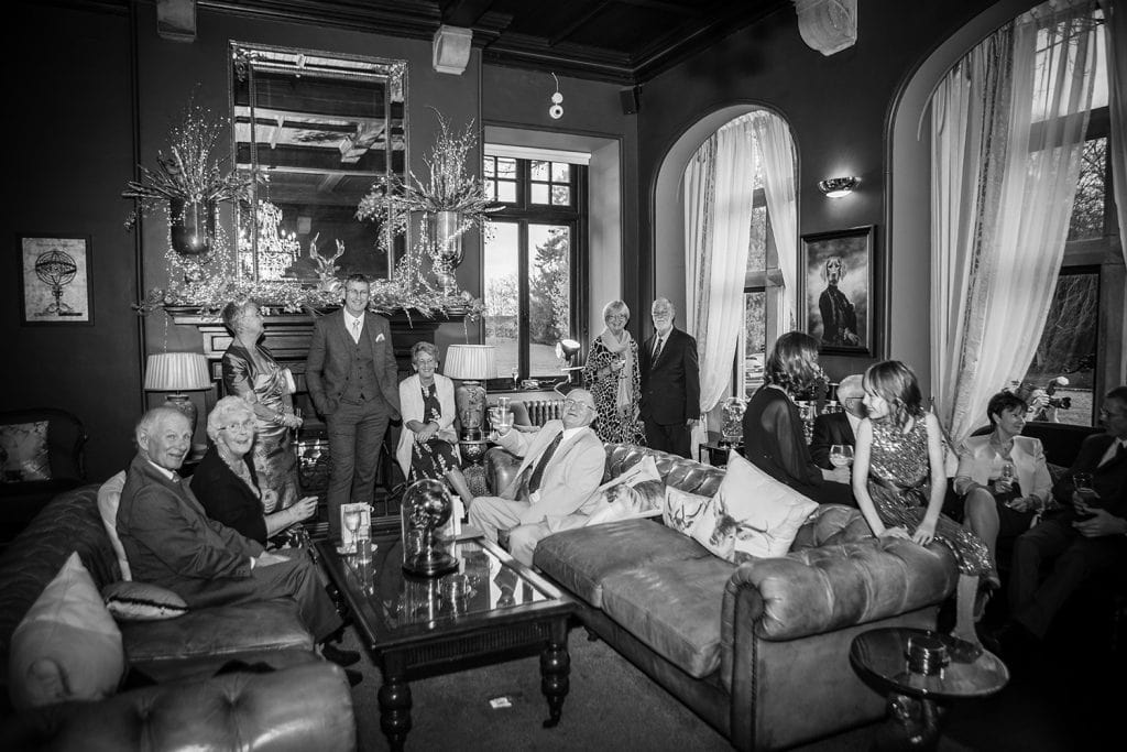 Guests relaxing at Ellingham Hall in Northumberland