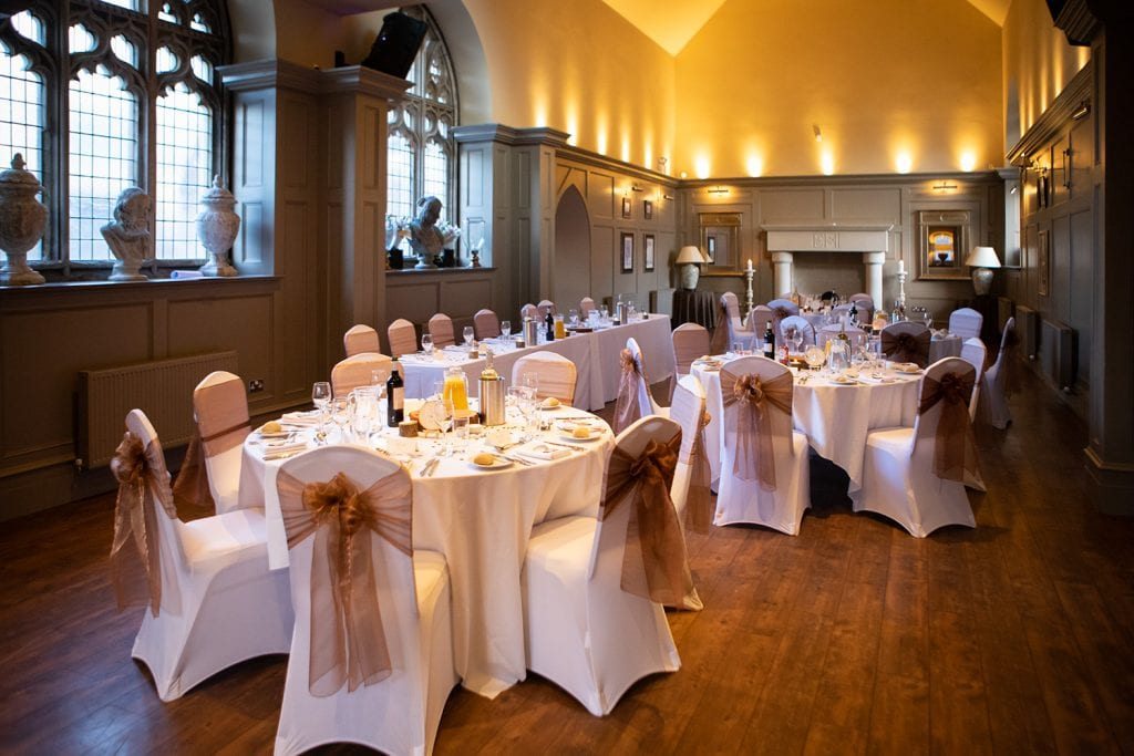 The main hall at Ellingham Hall in Northumberland
