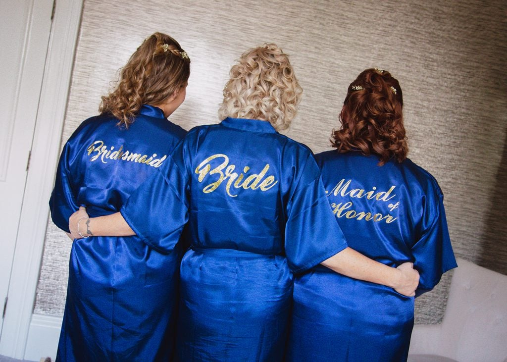 Personalised dressing gowns for Bride & Bridesmaids