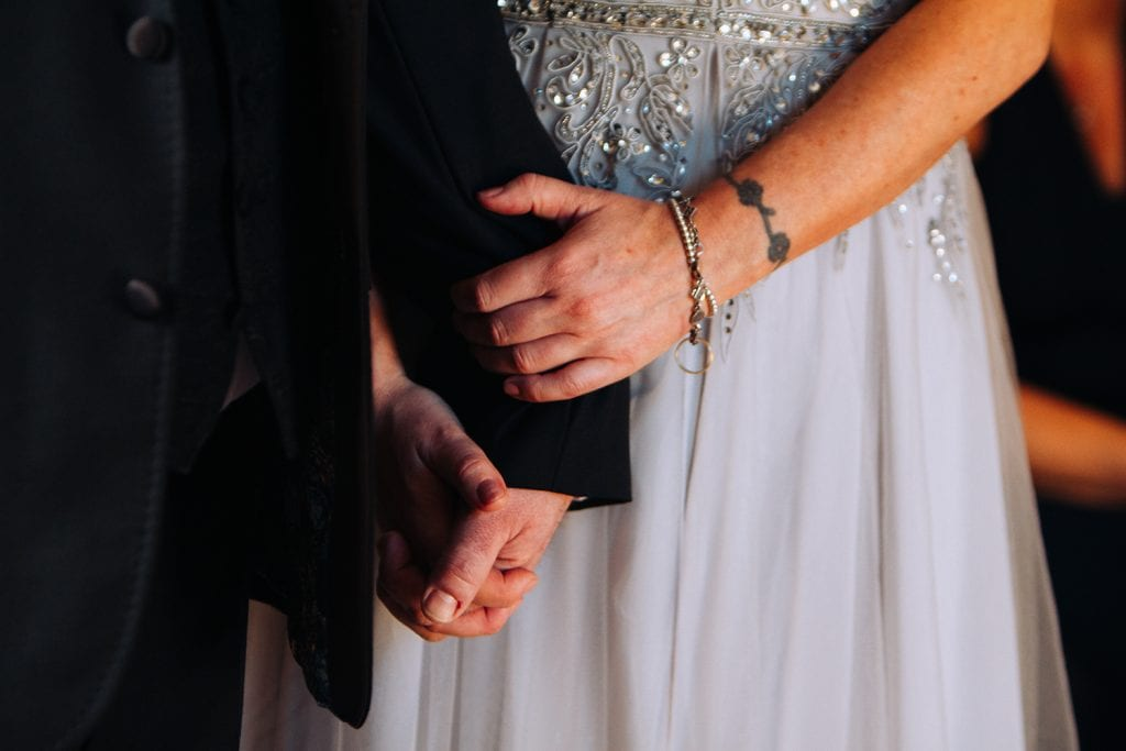 Close up of Carl & Jo's hands