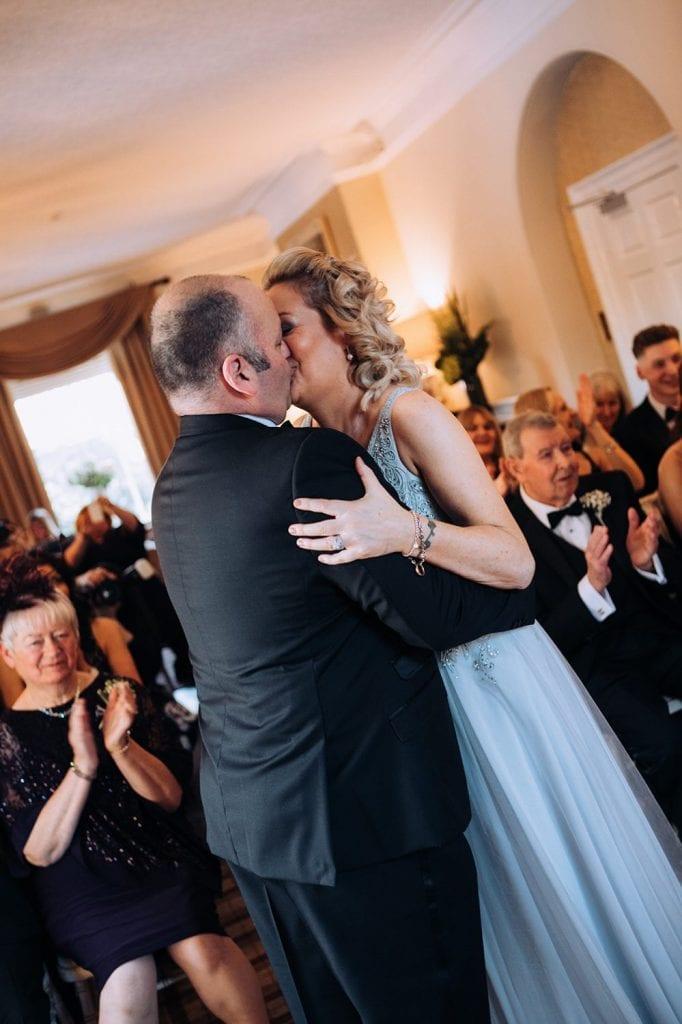 Carl & Jo Kissing at Horton Grange