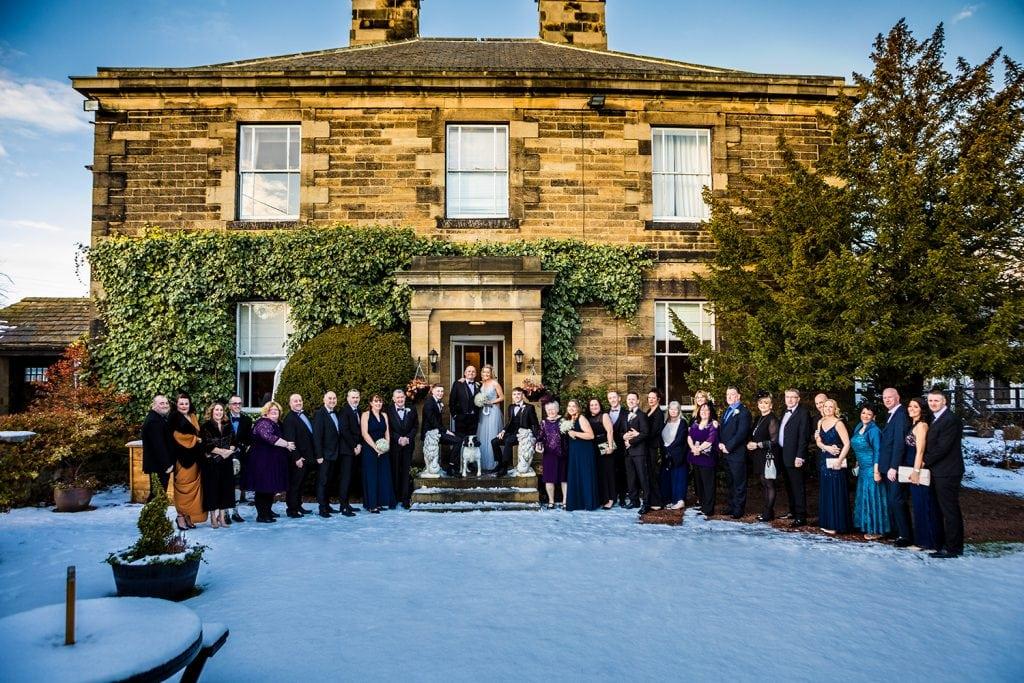 Large group photo outside of The Horton Grange Hotel