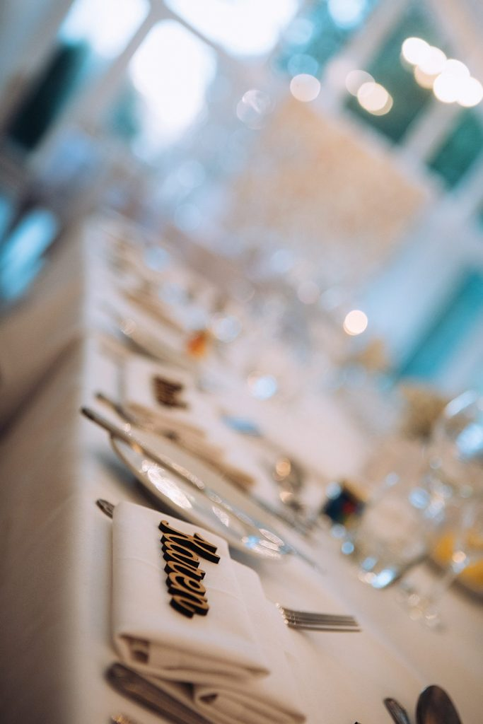 Table placings at Horton Grange in Northumberland