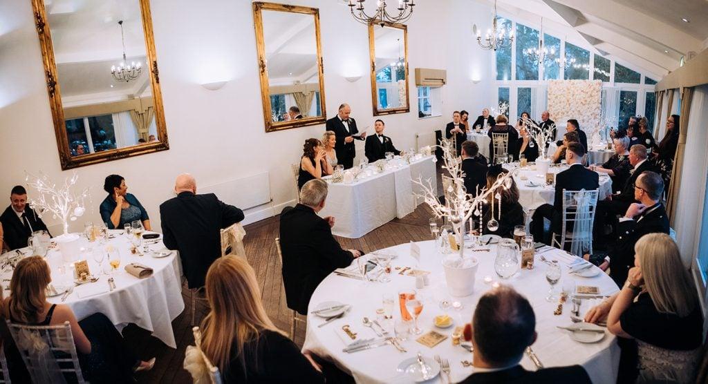 Horton Grange's function room for the wedding breakfast