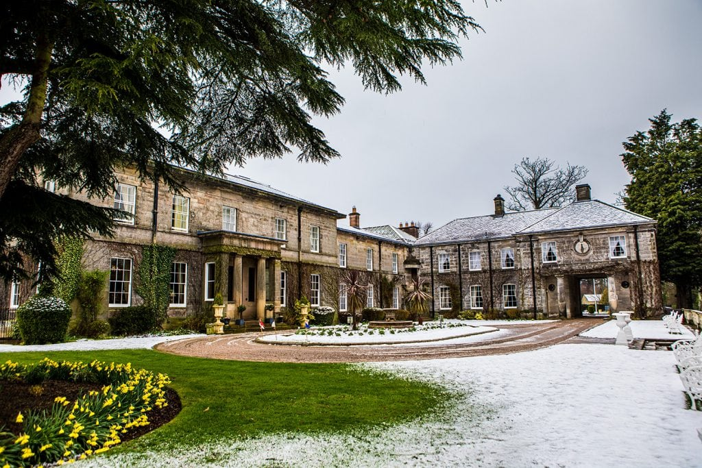 Doxford Hall covered in snow
