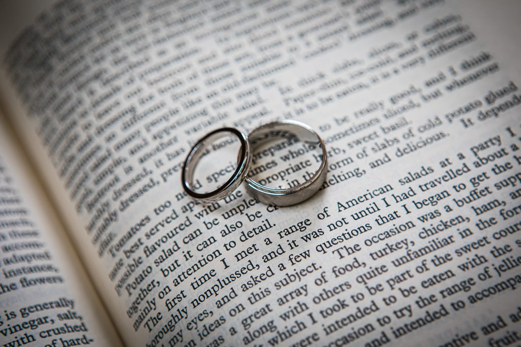 The Wedding Rings on a book