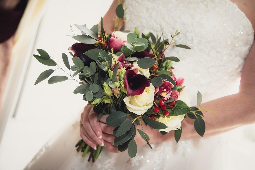 Brides bouquet in her hands