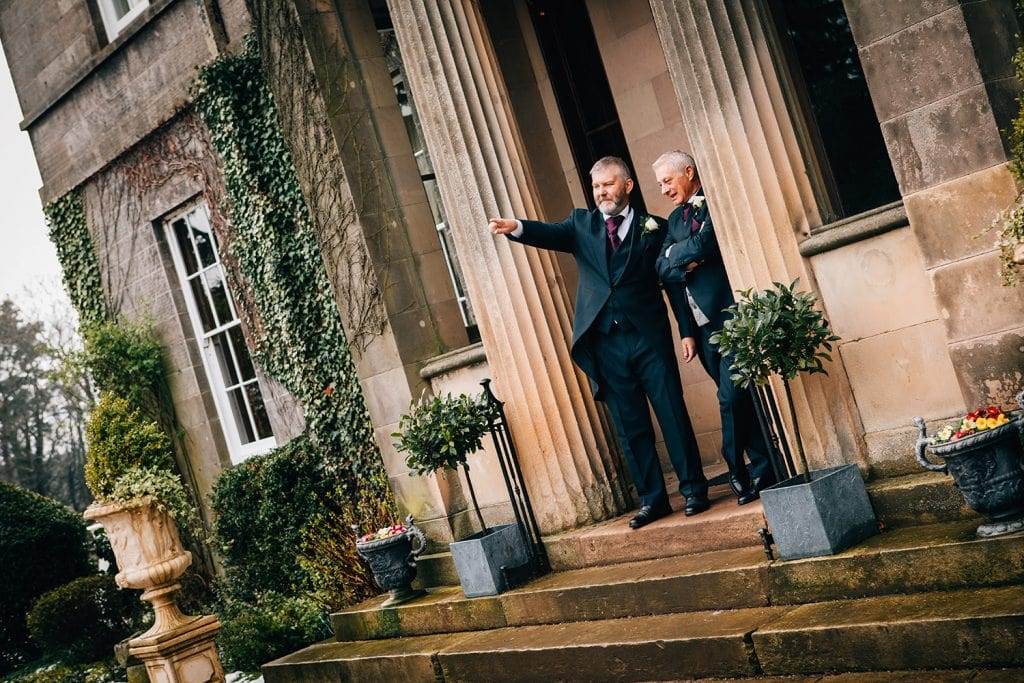 Bestman showing the groom Doxford Halls grounds