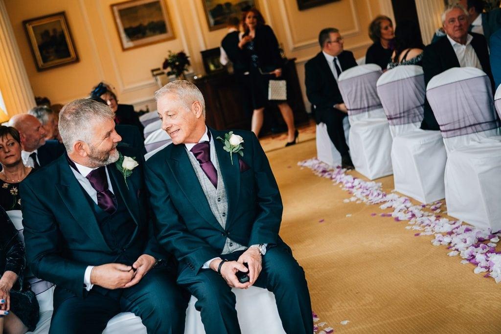 Groom & Bestman chatting before the wedding