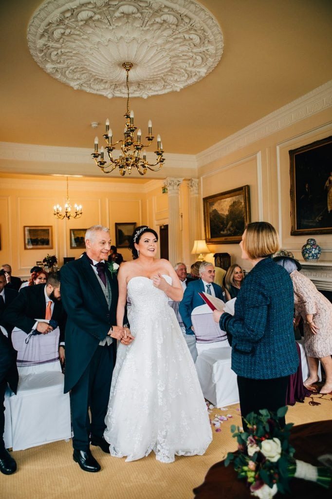 Kerry & Michael getting married at Doxford Hall