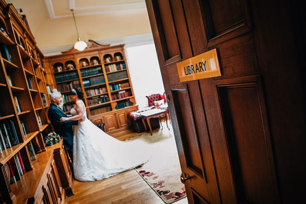Kerry & Michael in the Libary Room, Doxford Hall