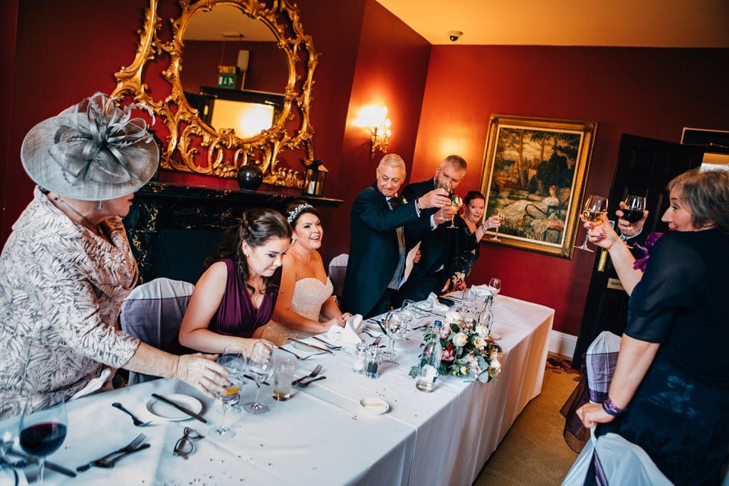 Toasting the bride at Doxford Hall