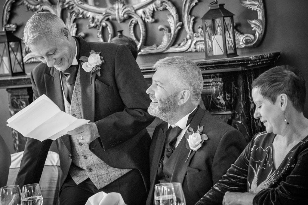 Grooms speech at Doxford Hall