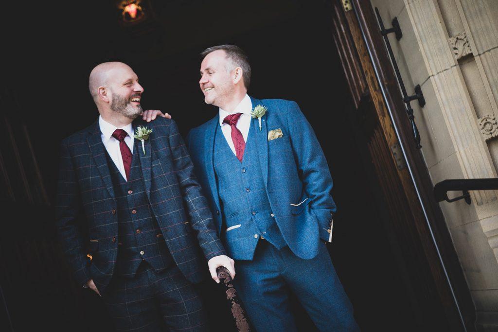 The groom meeting his best man