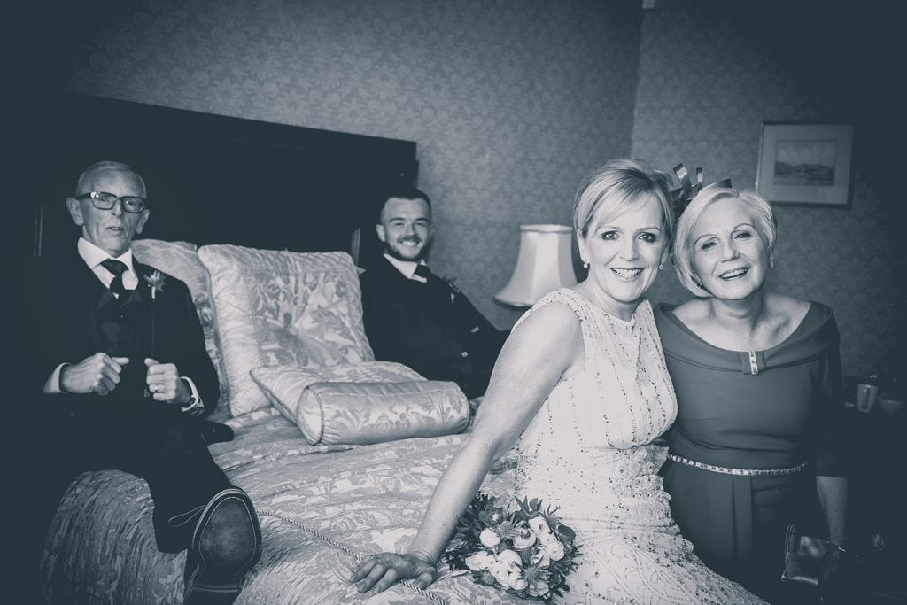 The bride and her wedding party at The Mansion House in Jesmond, Newcastle