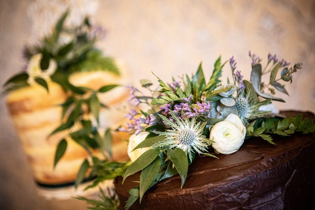 Close up of thistle and rose topped cake at The Mansion House in Jesmond, Newcastle