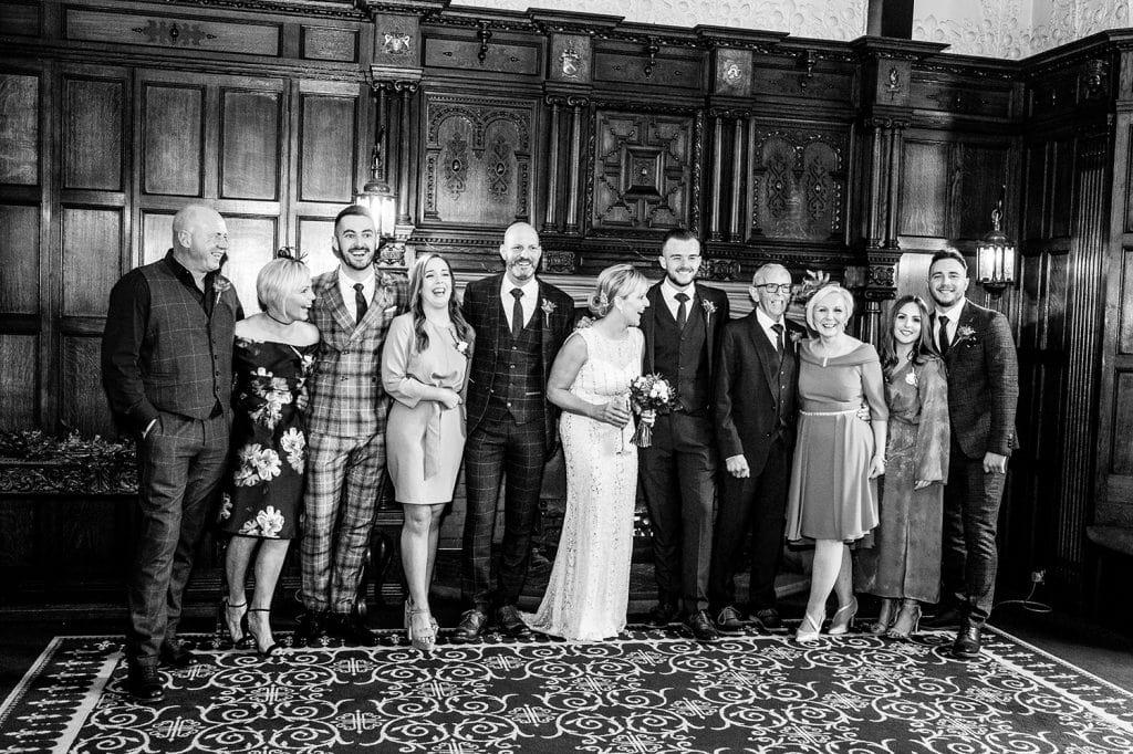 Family having fun inside The Mansion House in Jesmond, Newcastle
