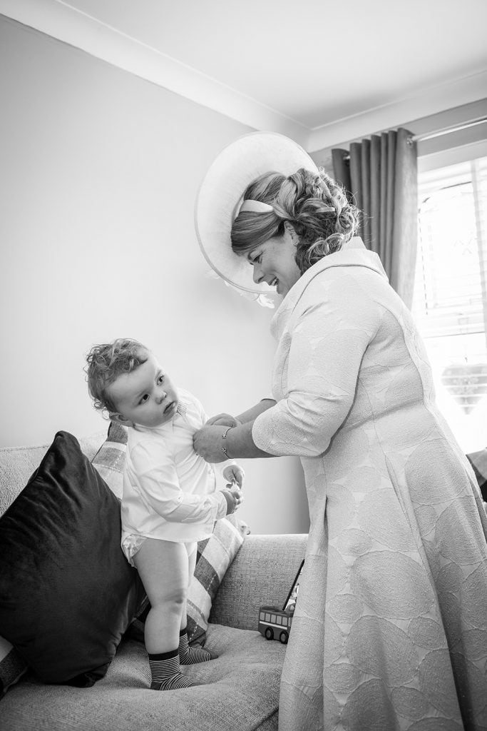 Pageboy getting ready at a South Shields Wedding