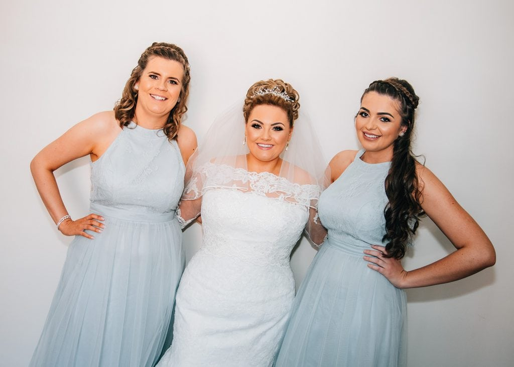 bride with her bridesmaids at a South Shields Wedding