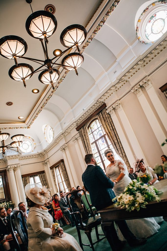 Bride & Groom getting married at South Shields Town Hall
