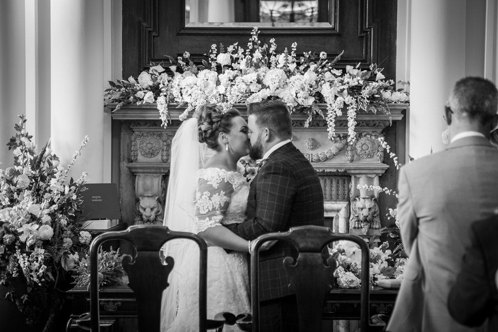 First kiss at South Shields Town Hall